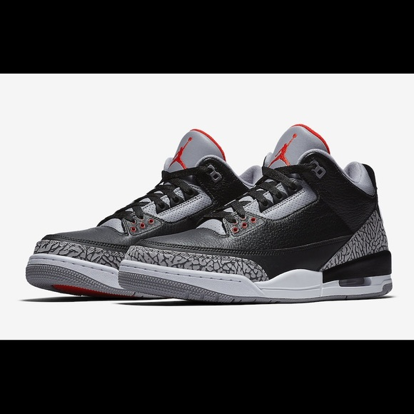 2018 Air Jordan Retro 3 OG Black Cement MEN'S 9